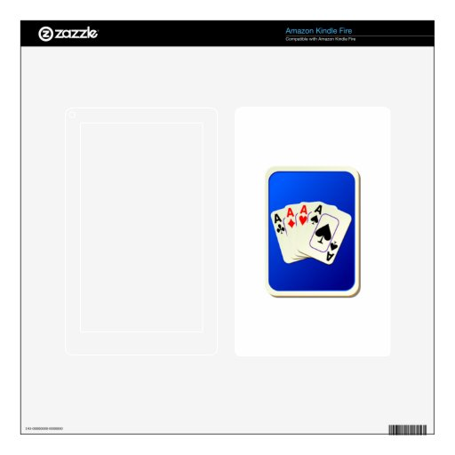 Deck of Playing Cards Decals For Kindle Fire