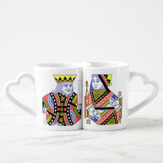 Deck of Playing Cards King and Queen Coffee Mug Set