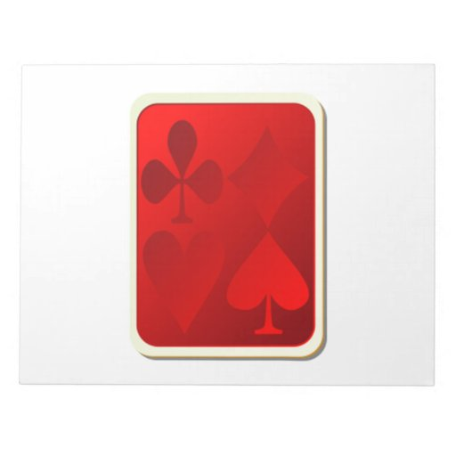 Deck of Playing Cards Memo Pad