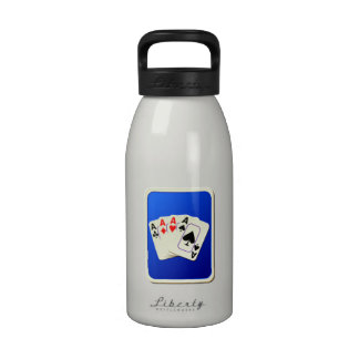 Deck of Playing Cards Reusable Water Bottles