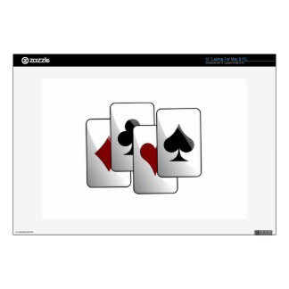 "Deck of Playing Cards 13"" Laptop Skins"