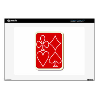 "Deck of Playing Cards 13"" Laptop Decals"