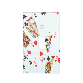 Deck of playing cards spread out switch plate cover