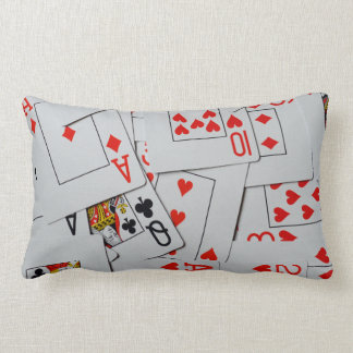 Deck Of Scattered Playing Cards, Lumbar Pillow