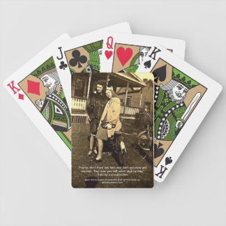 Deck of Vintage Photo Cards Friendship Bicycle Playing Cards