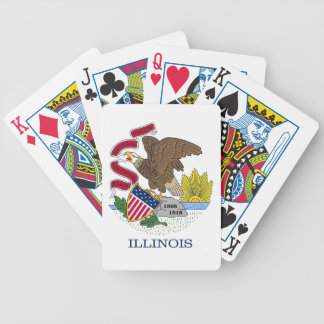 Deck Playing Cards with Flag of Illinois