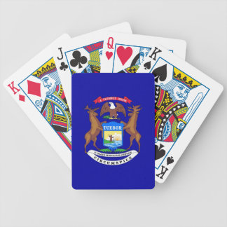 Deck Playing Cards with Flag of Michigan