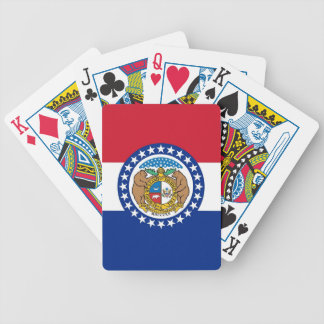 Deck Playing Cards with Flag of Missouri