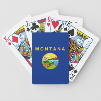 Deck Playing Cards with Flag of Montana