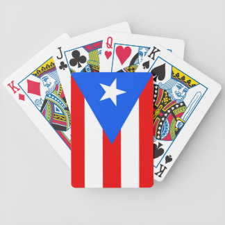 Deck Playing Cards with Flag of Puerto Rico