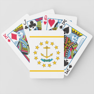 Deck Playing Cards with Flag of Rhode Island