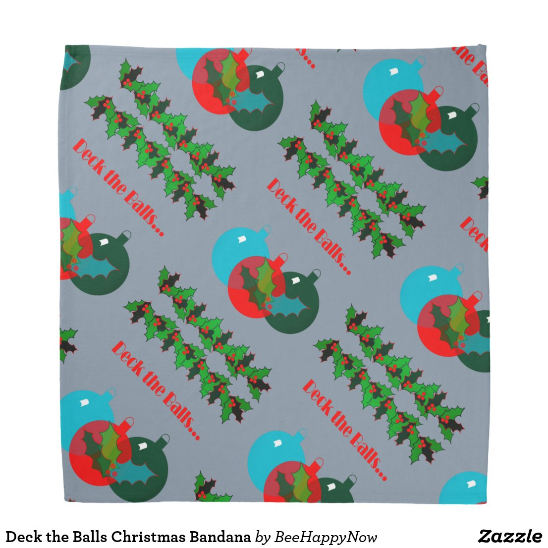 Deck the Balls Christmas Bandana