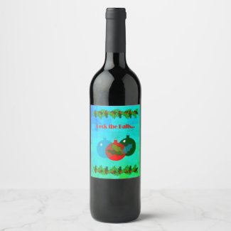 Deck the Balls Christmas Wine Label