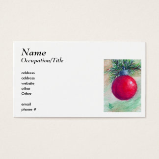 Deck the Halls Avery Business Card