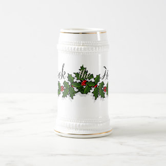 Deck the Halls Christmas Beer Stein