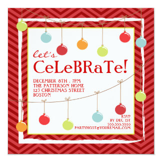 Deck the Halls Christmas Holiday Party Invitation