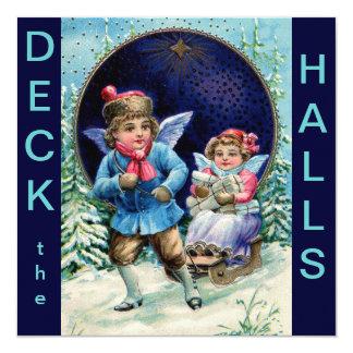 Deck the Halls Christmas Invitation