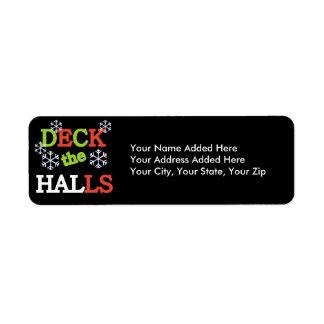 Deck the Halls Christmas Return Address Labels
