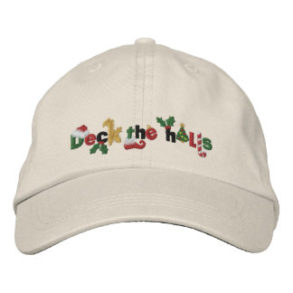 Deck the Halls Embroidered Baseball Cap