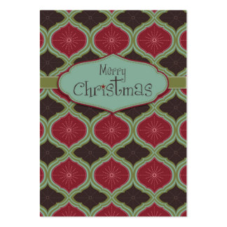 Deck the Halls Gift Tag Large Business Card