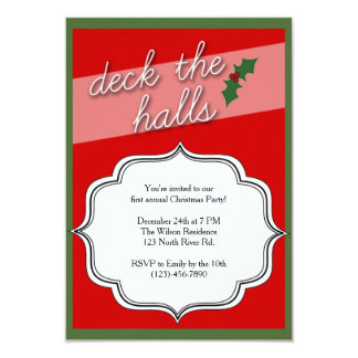 Deck the Halls Holiday Christmas Party Invite