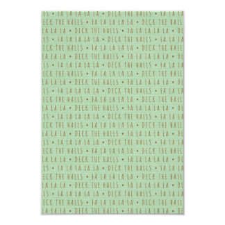 Deck the Halls Holiday Pattern 3.5x5 Paper Invitation Card