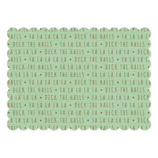 Deck the Halls Holiday Pattern Personalized Invites