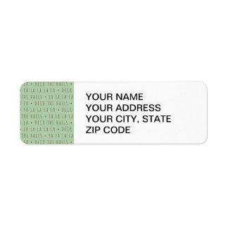 Deck the Halls Holiday Pattern Return Address Label