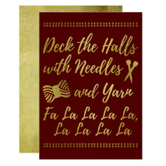 Deck the Halls • Knitting & Yarn Crafts Faux Gold Card