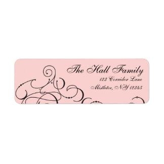 Deck the Halls Modern Lettering Blush Pink Black Label