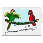 Deck the Halls Parrot Christmas Card