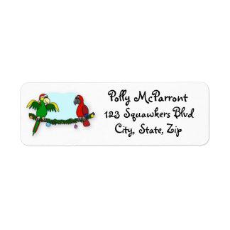 Deck the Halls Parrot Label