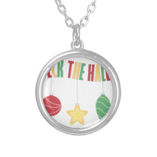 Deck The Halls Silver Plated Necklace
