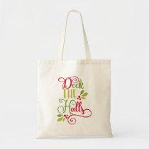 deck the halls tote bag