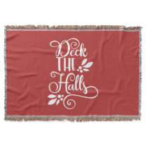 deck the halls Typography Holidays Throw