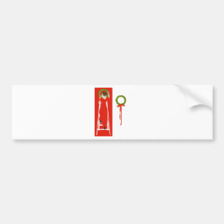 Deck The Halls With Boughs of Holly for Christmas Car Bumper Sticker