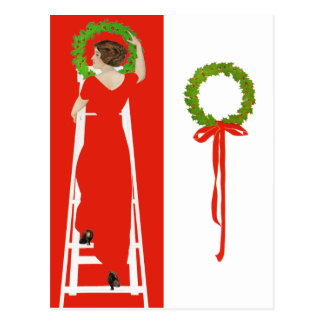 Deck The Halls With Boughs of Holly for Christmas Postcard