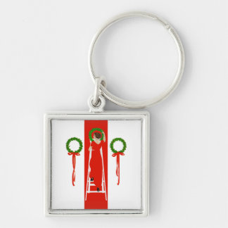 Deck the Halls with Boughs of Holly Keychain