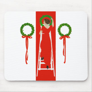 Deck the Halls with Boughs of Holly Mouse Pad