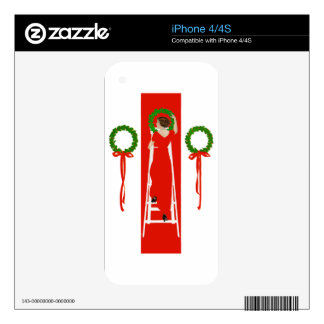 Deck the Halls with Boughs of Holly Skin For The iPhone 4