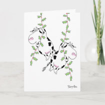 DECK THE HALLS WITH COWS AND HOLLY by Boynton Holiday Card