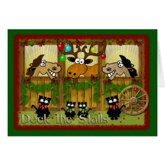 Deck the Stalls Greeting Card