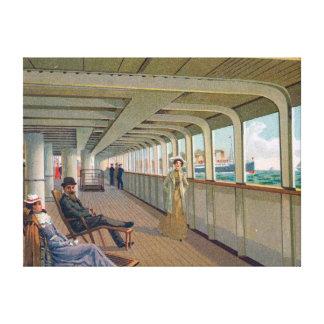 Deck View of the Patricia, Hamburg-America Line Canvas Print
