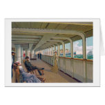 Deck View of the Patricia, Hamburg-America Line Greeting Card