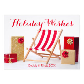 Deckchair and christmas presents card