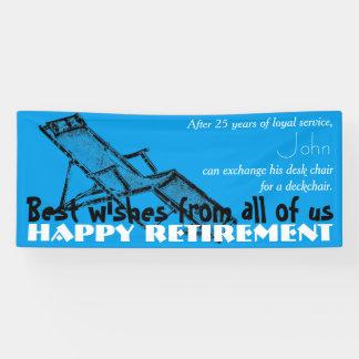 Deckchair Happy Retirement Party Banner