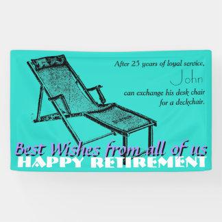 Deckchair Happy Retirement Party Banner 2