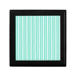 Deckchair Stripes in Tiffany Aqua Blue Keepsake Boxes