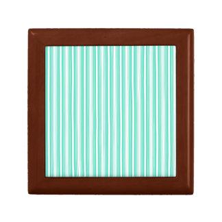 Deckchair Stripes in Tiffany Aqua Blue Trinket Box