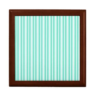 Deckchair Stripes in Tiffany Aqua Blue Gift Box